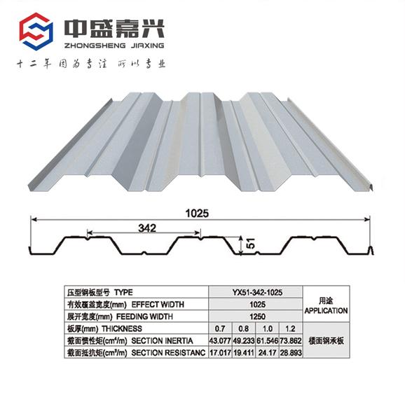 YX51-342-1025-1.2mm楼承板